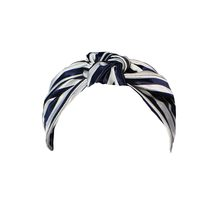 Navy Stripe Knot Headband